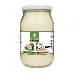Olej kokosowy rafinowany 900ml - Pan zdrówko