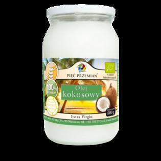 Olej kokosowy BIO extra virgin 800 g - Pięć Przemian