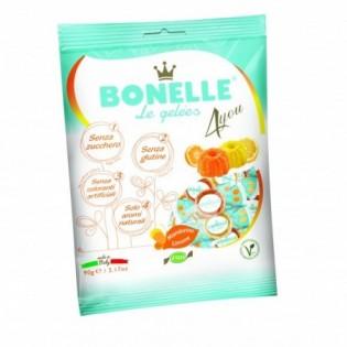 Żelki o smaku cytryny i mandarynki bez dodatku 90 g - BONELLE