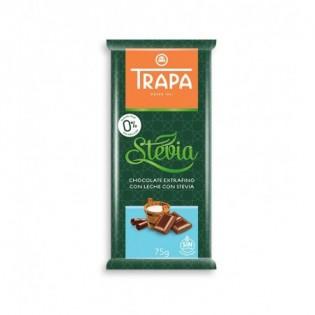 Czekolada mleczna ze stewią bez dodatku cukru 75 g - Trapa