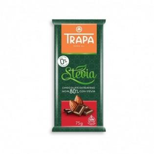 Czekolada gorzka 80% kakao ze stewią 75 g - Trapa
