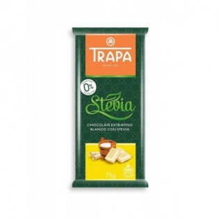 Czekolada biała ze stewią bez cukru 75 g - Trapa