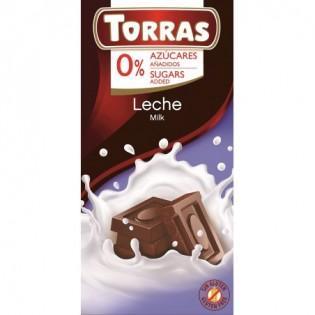 Czekolada mleczna bez dodatku cukru 75 g - Torras