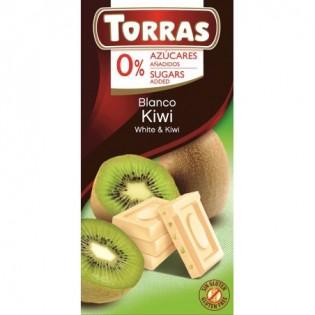 Czekolada biała z kiwi bez dodatku cukru 75 g - Torras