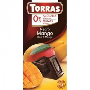 Czekolada gorzka z mango bez dodatku cukru Torras 75 g - Torras
