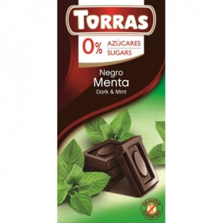 Czekolada gorzka z miętą bez dodatku cukru 75 g - Torras