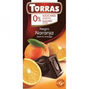 Czekolada gorzka z pomarańczami bez dodatku cukru 75 g - Torras