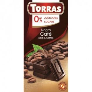 Czekolada gorzka z kawą bez dodatku cukru 75 g - Torras