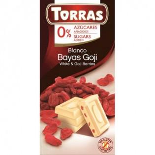 Czekolada biała z goji bez dodatku cukru 75 g - Torras
