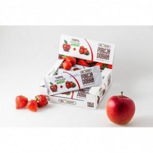 Listki owocowe Porcja dobra JABŁKOWO - TRUSKAWKOWA PRZEKĄSKA 16 g - Pure Life