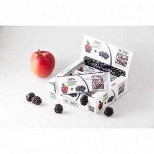 Listki owocowe Porcja dobra JABŁKOWO - JEŻYNOWA PRZEKĄSKA 16 g - Pure Life