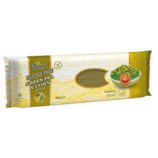 Makaron bezglutenowy zielony groszek i kukurydza spaghetti 400 g - Sam Mills
