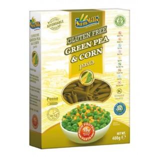 Makaron bezglutenowy zielony groszek i kukurydza rurka (penne) 400 g - Sam Mills