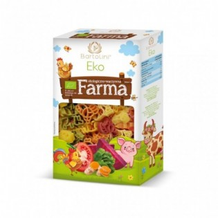 Makaron Eko Farma zwierzątka pięciosmakowe 250 g - Bartolini