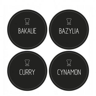 Naklejki | etykiety na pojemniki przyprawy - 96 sztuk